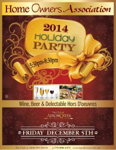 HOA Party Flyer 2014