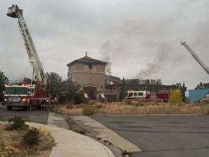 Marcella Corona/RGJ The clubhouse at the D'Andrea Golf Course in Sparks was destroyed by a fire Wednesday Oct 28, 2015.